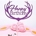 ราคาถูก ของตกแต่งหน้าเค้ก-อุปกรณ์แต่งหน้าเค้ก Romance / การแต่งงาน / วันเกิด Stylish / Portable Pure Paper วันครบรอบ / วันเกิด กับ ไม่มีลาย 1 pcs OPP