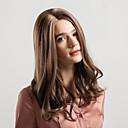 Χαμηλού Κόστους Συνθετικές περούκες χωρίς σκουφί-Συνθετικές Περούκες Βαθύ Κύμα Kardashian Στυλ Μέσο μέρος Χωρίς κάλυμμα Περούκα Ανοικτό Καφέ Μπεζ Συνθετικά μαλλιά 18 inch Γυναικεία Νέα άφιξη / Φυσική γραμμή των μαλλιών / curling Ανοικτό Καφέ / Ombre