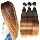 お買い得  カラー・ヘアエクステンション-3バンドル ブラジリアンヘア ストレート レミーヘア人毛 人毛エクステンション 8-26 インチ 人間の髪織り ソフト 最高品質 新参者 人間の髪の拡張機能 / 10A