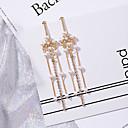 ราคาถูก ตุ้มหู-สำหรับผู้หญิง Drop Earrings คลาสสิค ง่าย แฟชั่น ต่างหู เครื่องประดับ สีทอง สำหรับ ทุกวัน เดท 1 คู่