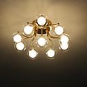 povoljno Svijeće i svijećnjaci-ZHISHU 10-Light sputnjik / Geometrijski Flush Svjetla Ambient Light Electroplated Metal Glass LED, New Design 110-120V / 220-240V Meleg fehér / Bijela