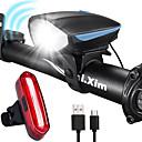 olcso Kerékpár világítás-LED Kerékpár világítás Újratölthető biciklilámpa Kerékpár hátsó lámpa biztonsági világítás Hegyi biciklizés Kerékpár Kerékpározás Vízálló Páramentesítő Szuper fényes Hordozható Rechargeable Li-Ion