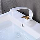 povoljno Slavine za umivaonik-Kupaonica Sudoper pipa - Kreativan Golden / Slikano završi Središnje pozicionirane Jedan Ručka jedna rupaBath Taps