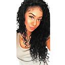 Χαμηλού Κόστους Περούκες από Ανθρώπινη Τρίχα-Φυσικά μαλλιά Δαντέλα Μπροστά Χωρίς Κόλλα Δαντέλα Μπροστά Περούκα Με μικρές μπούκλες στυλ Βραζιλιάνικη Βαθύ Κύμα Περούκα 130% 250% Πυκνότητα μαλλιών / Φυσική γραμμή των μαλλιών / Για μαύρες γυναίκες