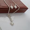 povoljno Komplet nakita-Žene Ogrlica Klasičan slatko Moda Elegantno Naušnice Jewelry Pink Za Vjenčanje Party 1set
