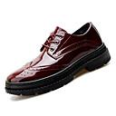 ราคาถูก รองเท้าOxfordสำหรับผู้ชาย-สำหรับผู้ชาย รองเท้า Bullock หนังสิทธิบัตร ตก ธุรกิจ รองเท้า Oxfords ระบายอากาศ สีดำ / ไวน์