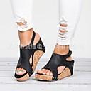 ราคาถูก รองเท้าแตะผู้หญิง-สำหรับผู้หญิง หนังเทียม ฤดูใบไม้ผลิ ไม่เป็นทางการ รองเท้าแตะ รองเท้าส้นตึก สีดำ / สีน้ำตาล / สีกากี