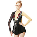 Χαμηλού Κόστους Παιδικά Ρούχα Χορού-Φόρεμα για φιγούρες πατινάζ Γυναικεία Κοριτσίστικα Patinaj Φορέματα Μαύρο Κύκνος Spandex Ελαστικό Νήμα Υψηλή Ελαστικότητα Επαγγελματική Ανταγωνισμός Ενδυμασία πατινάζ Χειροποίητο Μοντέρνα Μακρυμάνικο