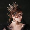 Χαμηλού Κόστους Φορέματα Λολίτα-Μαύρος κύκνος Κρίκοι Τιάρες μέτωπό Crown Βίντατζ Γοτθική Λολίτα Barroco Κομψό Χρώμιο Κορώνα Χορός μεταμφιεσμένων Για Μασκάρεμα Χοροεσπερίδα Γαμήλιο Πάρτι Γυναικεία Κοριτσίστικα Κρυστάλλινο Μαύρο
