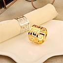 billige Innendørs IP Nettverkskameraer-Moderne Fritid Rustfritt stål Rund Servietring Mønstret Borddekorasjoner 1 pcs