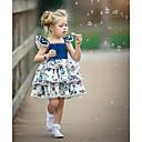 Χαμηλού Κόστους Φορέματα για κορίτσια-Μωρό Κοριτσίστικα Ενεργό / Κομψό στυλ street Πάρτι / Γενέθλια Μπλε & Άσπρο Φλοράλ Με Κορδόνια / Στάμπα Αμάνικο Κανονικό Κανονικό Πάνω από το Γόνατο Βαμβάκι Φόρεμα Μπλε / Νήπιο