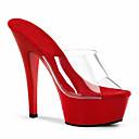 ราคาถูก รองเท้าแตะผู้หญิง-สำหรับผู้หญิง รองเท้าส้นสูง รองเท้าแตะเยลลี่ ส้น Stiletto พีวีซี รองเท้าคลับ ฤดูใบไม้ผลิ / ฤดูร้อน ขาว / สีดำ / แดง / งานแต่งงาน / พรรคและเย็น / พรรคและเย็น