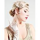 povoljno Stare svjetske nošnje-The Great Gatsby Čarlston Vintage 1920s Traka za kosu u stilu 20-ih Žene Kostim Šeširi Crn / Zlatan Vintage Cosplay Party Prom Bez rukávů