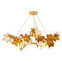 povoljno Otok Svjetla-QIHengZhaoMing 6-Light Lusteri Ambient Light Brass Metal Glass 110-120V / 220-240V Meleg fehér