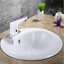 povoljno Slavine za umivaonik-Kupaonica Sudoper pipa - Szenzor Chrome Samostojeći Hands free jedna rupaBath Taps