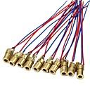 billiga Tillbehör-10 x mini laserdioddiodmodulhuvud wl röd 650nm 6mm 5v 5mw pack med 10