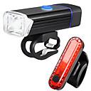 billiga Hundkläder-LED Cykellyktor Set med laddningsbar cykelbelysning Baklykta till cykel säkerhetslampor Bergscykling Cykel Cykelsport Vattentät Flera lägen Jätteljus Bärbar Uppladdningsbart Li-ion Batteri 1000 lm USB