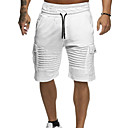 cheap Necklaces-Men's Basic Daily Shorts Pants - Solid Colored Green White Red XL XXL XXXL