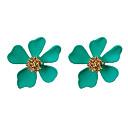 ราคาถูก ตุ้มหู-สำหรับผู้หญิง ชุดต่างหู คลาสสิค Flower แฟชั่น ต่างหู เครื่องประดับ สีเขียว / ฟ้า / สีชมพู สำหรับ ปาร์ตี้ ทุกวัน 1set