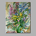 Χαμηλού Κόστους Αφηρημένοι Πίνακες-Hang-ζωγραφισμένα ελαιογραφία Ζωγραφισμένα στο χέρι - Αφηρημένο Άνθινο / Βοτανικό Σύγχρονο Μοντέρνα Περιλαμβάνει εσωτερικό πλαίσιο / Κυλινδρικός καμβάς / Επενδυμένο καμβά