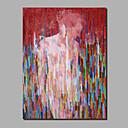 baratos Pinturas Abstratas-Pintura a Óleo Pintados à mão - Abstrato Pessoas Contemprâneo Modern Incluir moldura interna / Lona Laminada / Lona esticada