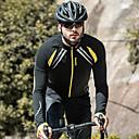 זול חולצות רכיבת אופניים-SANTIC בגדי ריקוד גברים ג'קט לרכיבה אופניים ג'קט / ג'רזי / צמרות עמיד, בטנת פליז, נושם טלאים ספנדקס, צמר חורף צהוב / שחור מתקדם רכיבת הרים מידת Semi-Form Fit בגדי רכיבת אופניים טכניקות תפירה מתקדמות