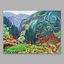 baratos Resfriadores de Vinho-Pintura a Óleo Pintados à mão - Abstrato Modern Incluir moldura interna / Lona esticada