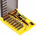 povoljno Soldering Iron & Accessories-6089a 45 u 1 izmjenjivom skupu alata za odvijače profesionalnih alata za popravke telefon / pc / aparat s povišenim tvrdim produžnim vratilom