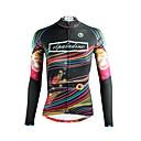 povoljno Biciklističke majice-ILPALADINO Žene Dugih rukava Biciklistička majica Crn Duga Bicikl Majice Prozračnost Quick dry Ultraviolet Resistant Sportski Zima Elastan Odjeća