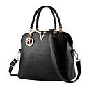 ราคาถูก กระเป๋า Totes-สำหรับผู้หญิง กระดุม หนังกลับ กระเป๋าถือยอดนิยม สีทึบ ไวน์ / สีกากี / สีน้ำเงินกรมท่า