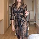 povoljno Ogrtač-Žene Čipka Sexy Odijelo Noćno rublje Jednobojni Obala Crn One-Size