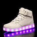 povoljno Muške tenisice-Žene Sneakers Niska potpetica Okrugli Toe PU LED / Ležerne prilike / slatko Proljeće ljeto Crn / Obala / Crvena