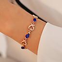 billiga Jewelry Set-Dam Kristall Crystal Armband Hjärta Hollow Heart Ljuv Mode Bergkristall Armband Smycken Röd / Grön / Blå Till Datum Födelsedag