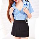 povoljno Seksi kostimi-Žene Naborano Super seksi Seksi spavaćica / kineska haljina Noćno rublje Color block Plava One-Size / Kragna košulje