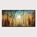 Χαμηλού Κόστους Πίνακες Τοπίων-Hang-ζωγραφισμένα ελαιογραφία Ζωγραφισμένα στο χέρι - Αφηρημένο Τοπίο Μοντέρνα Χωρίς Εσωτερικό Πλαίσιο
