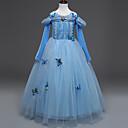 Χαμηλού Κόστους Κοστούμια με Θέμα Ταινίες & Τηλεόραση-Elsa Στολές Ηρώων Φόρεμα κορίτσι λουλουδιών Παιδικά Κοριτσίστικα Γραμμή Α Ρούχο από μέσα Φορέματα Χριστούγεννα Halloween Απόκριες Γιορτές / Διακοπές Τούλι Βαμβάκι Μπλε Αποκριάτικα Κοστούμια