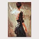 baratos Pinturas Pessoas-Pintura a Óleo Pintados à mão - Abstrato Modern Incluir moldura interna