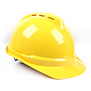 ราคาถูก หมวกกันน็อกจักรยานยนต์-หมวกนิรภัยสำหรับอุปกรณ์ความปลอดภัยในสถานที่ทำงานเอบีเอสระบายอากาศ 0.5 กิโลกรัมสีเหลืองสีน้ำเงินสีแดงหมวกกันน็อค
