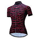 ราคาถูก ชุดออกกำลังกายและชุดโยคะ-TELEYI สำหรับผู้หญิง แขนสั้น Cycling Jersey สีดำ / สีแดง ขนาดพิเศษ จักรยาน เสื้อยืด Tops ขี่จักรยานปีนเขา Road Cycling ระบายอากาศ Moisture Wicking แห้งเร็ว กีฬา เส้นใยสังเคราะห์ เสื้อผ้าถัก / SBS ซิป