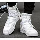 ราคาถูก รองเท้าผ้าใบผู้ชาย-สำหรับผู้ชาย รองเท้าสบาย ๆ Microfibre ฤดูใบไม้ผลิ & ฤดูใบไม้ร่วง รองเท้าผ้าใบ ขาว / สีดำ