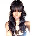 Χαμηλού Κόστους Εξτένσιος μαλλιών με ανταύγιες-Remy Τρίχα 360 μετωπικής Περούκα Με αφέλειες Kardashian στυλ Βραζιλιάνικη Κυματομορφή Σώματος Περούκα 150% 180% Πυκνότητα μαλλιών 10-22 inch / Φυσική γραμμή των μαλλιών / Περούκα αφροαμερικανικό στυλ