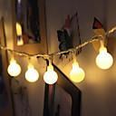 billige Abstrakte malerier-10 m Lysslynger 100 LED Dip Led Varm hvit / RGB / Hvit Vanntett / Jul / Dekorativ 1pc / IP65