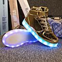 ราคาถูก รองเท้าผ้าใบเด็ก-เด็กผู้หญิง Light Up รองเท้า PU รองเท้าผ้าใบ เด็กน้อย (4-7ys) / Big Kids (7 ปี +) LED สีทอง / สีเงิน ตก