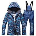 Χαμηλού Κόστους Ρούχα για σκι, σνόουμπορντ-RIVIYELE Ανδρικά Μπουφάν και παντελόνι για σκι Χειμερινά Αθήματα Αντιανεμικό Ζεστό Ικανότητα να αναπνέει Βαμβάκι POLY Ντένιμ Ρούχα σύνολα Ενδυμασία σκι / Χειμώνας / καμουφλάζ