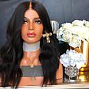 povoljno Perike s ljudskom kosom-Remy kosa Lace Front Perika stil Brazilska kosa Wavy Crna Perika 130% 150% 180% Gustoća kose s dječjom kosom Žene Rasprodaja 100% Djevica neprerađenih Žene Srednja dužina Perike s ljudskom kosom