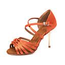 povoljno Cipele za latino plesove-Žene Plesne cipele Saten Cipele za latino plesove Kopča Sandale / Tenisice Tanka visoka peta Moguće personalizirati žuta / Seksi blagdanski kostimi / Koža
