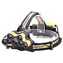 ราคาถูก โคมไฟระย้า-U'King Headlamps Bike Headlight 8000 lm LED 9 อิมิเตอร์ 6 โหมดโคมไฟ เคลื่อนที่ ทนทาน แคมป์ปิ้ง / การปีนเขา / เที่ยวถ้ำ ใช้เป็นประจำ ปั่นจักรยาน สีทอง แดง / อลูมิเนียมอัลลอย