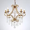 Χαμηλού Κόστους Σχέδιο στυλ κεριών-Τζελίτη 5-φως κρυστάλλινα κερί πολυέλαιος φως βαμμένα φινιρίσματα μεταλλικό κρύσταλλο 110-120v / 220-240v