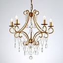 baratos Estilo Vela-jlylite candelabro de vela de cristal de 5 luzes luz ambiente acabamentos pintados cristal de metal 110-120v / 220-240v