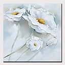 baratos Pinturas Florais/Botânicas-Pintura a Óleo Pintados à mão - Abstrato / Floral / Botânico Modern Sem armação interna